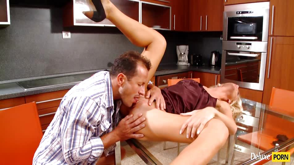 Curly Haired Blonde Cameron Gold Forked On Kitchen Table