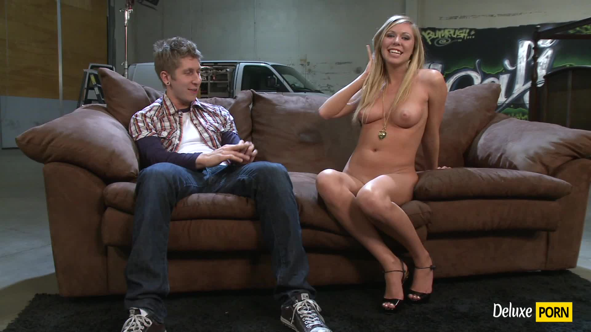 Tall Blonde Hottie Brynn Tyler Rammed Hard on the Sofa